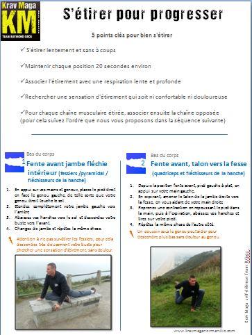 Guide s'étirer pour progresser krav maga team R Gros