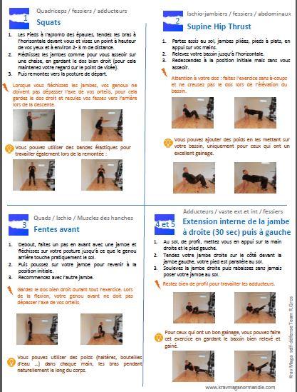exercice renforcement musculaire bas du corpd