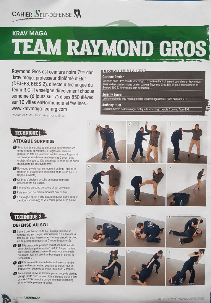 Article Krav Maga Team RG Karate Bushido 2020
